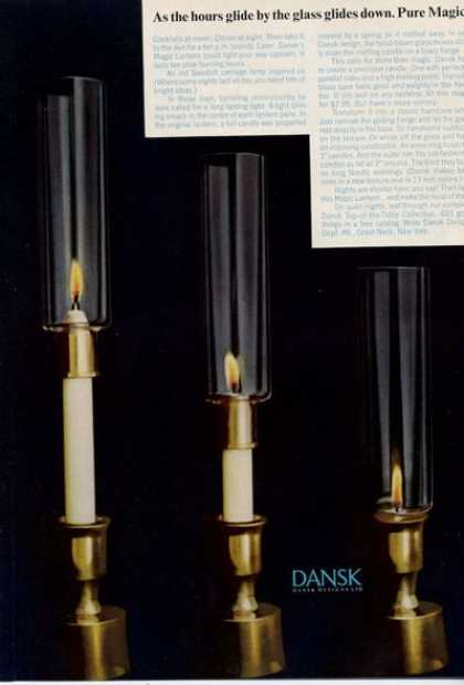 Dansk Magic Lantern Candleholder Print Photo (1964)