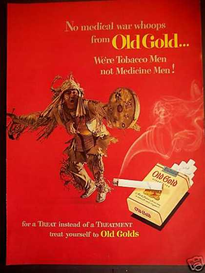 American Indian Dance Old Gold Cigarette (1950)