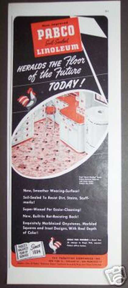 Pabco Pink Linoleum Floor of the Future (1944)