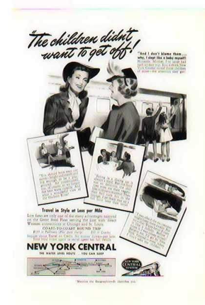New York Central Train – Travel in Style at less per Mile (1941)