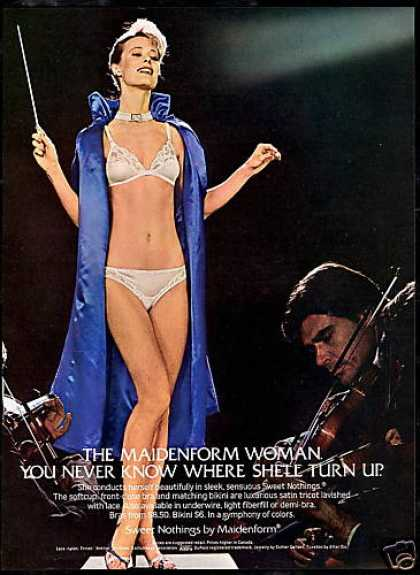 Sexy Woman Conductor Maidenform Lingerie (1982)