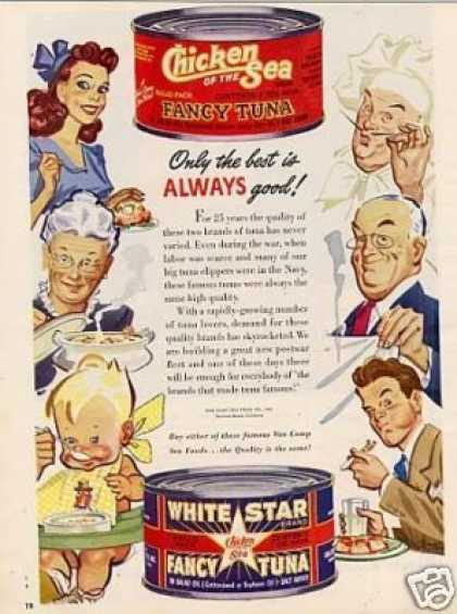 Chicken of the Sea & White Star Tuna (1946)