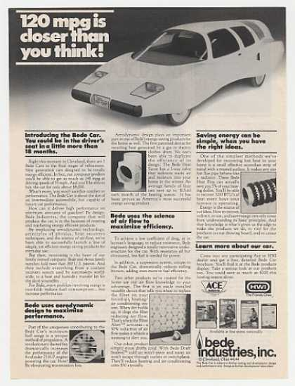 120 mpg Bede Car Cleveland Ohio (1980)