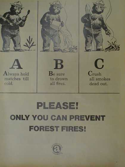 Advertising Council.Smokey the bear. Only you can prevent forest fires (1970)