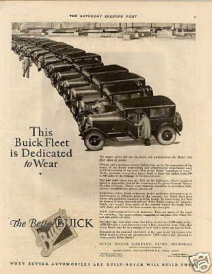 "Buick Car Ad ""This Buick Fleet... (1926)"