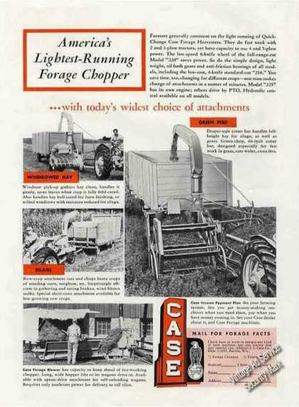 Quick-change Case Forage Harvester Photos (1955)