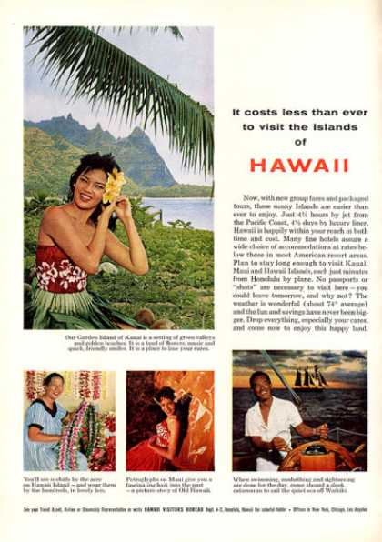 Hawaii Visitors Bureau Lei Pretty Girl Photo (1963)