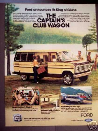 Ford Captain's Club Wagon Van at the Lake Photo (1979)