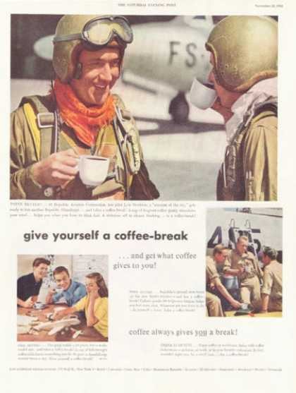 Coffee Lyle Monkton Thunderjet Test Pilot (1952)