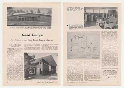 Long Beach CA Public Library Branch Design Article (1952)