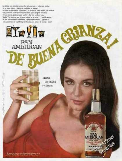Pan American Whiskey Spanish Language (1966)