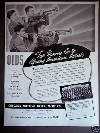 Olds Brass Instruments Young American Artists (1940)
