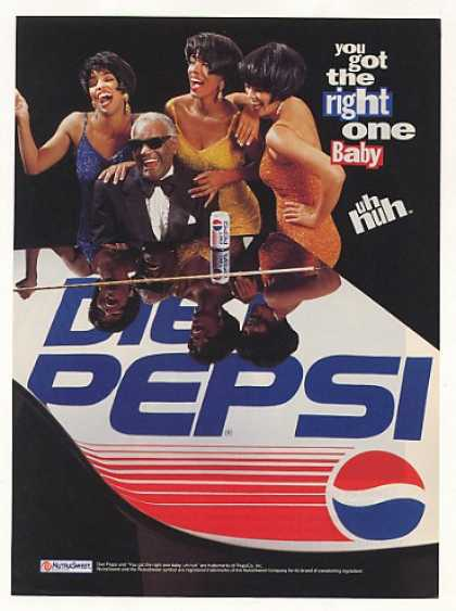 Ray Charles Diet Pepsi Photo (1991)