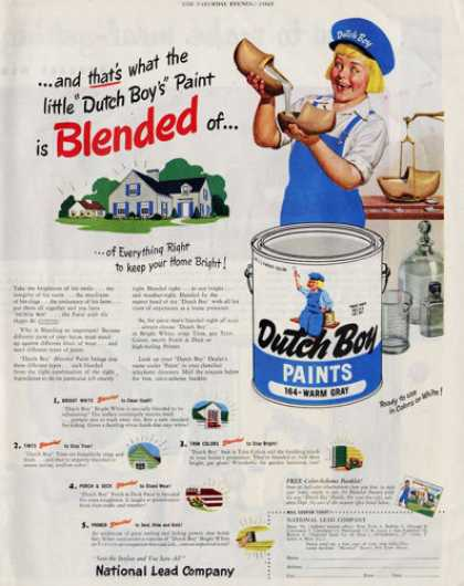 Dutch Boy Lead Paint (1949)