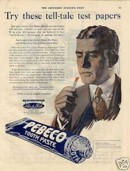 Pebco Tooth Paste Color (1920)