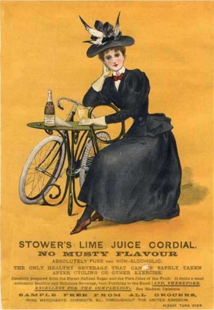 Stowers Lime Juice, Cordial Bicycles, UK (1890)