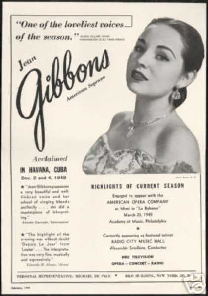 Jean Gibbons Photo Reviews Booking Vintage (1949)