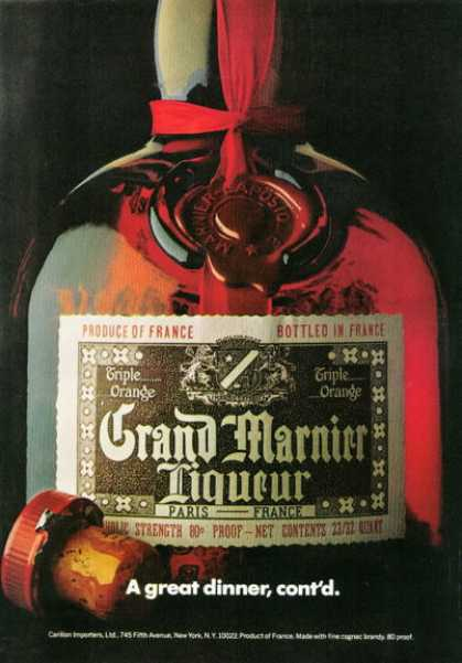 Grand Marnier Liqueur Bottle (1972)