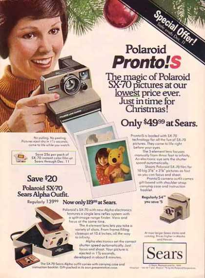 Polaroid & Sears Pronto Christmas (1976)