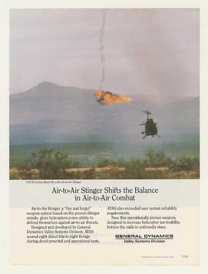 General Dynamics Stinger Missile OH-58 Copter (1987)