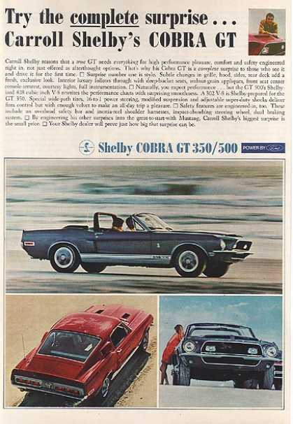 Ford's Mustang/ Cobra (1968)