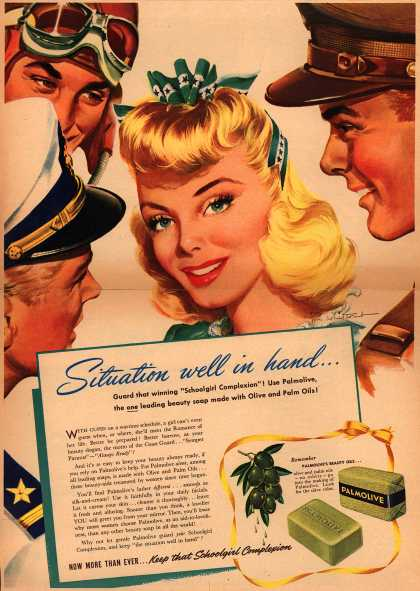 Palmolive Company's Palmolive Soap – Situation well in hand... (1942)