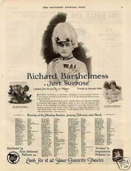 "First National Pictures Ad ""Just Suppose"" (1926)"