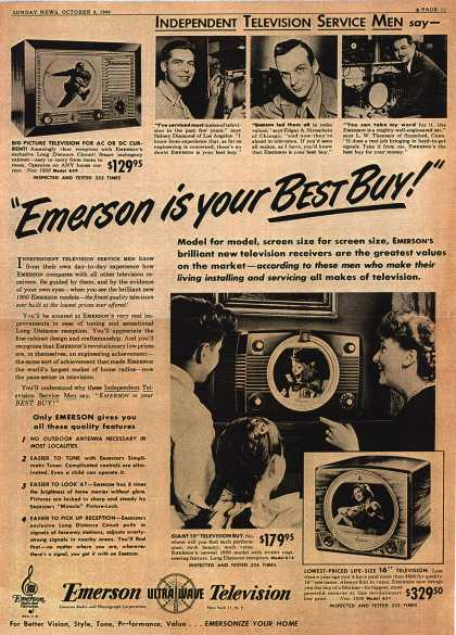 "Emerson Radio and Phonograph Corporation's various – ""Emerson is your Best Buy!"" (1949)"