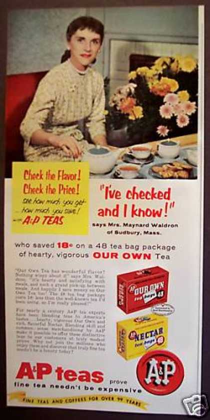 A & P Tea Bags Mrs. Maynard Waldron (1958)