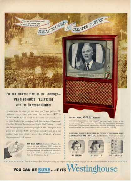 Westinghouse Tv Television 714k21 Ad T (1952)