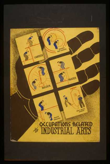 Occupations related to industrial arts / designed by Blanche L. Anish. (1936)