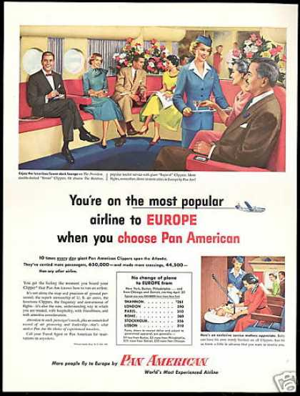 Pan American PAA Airlines Clippers Lounge (1954)