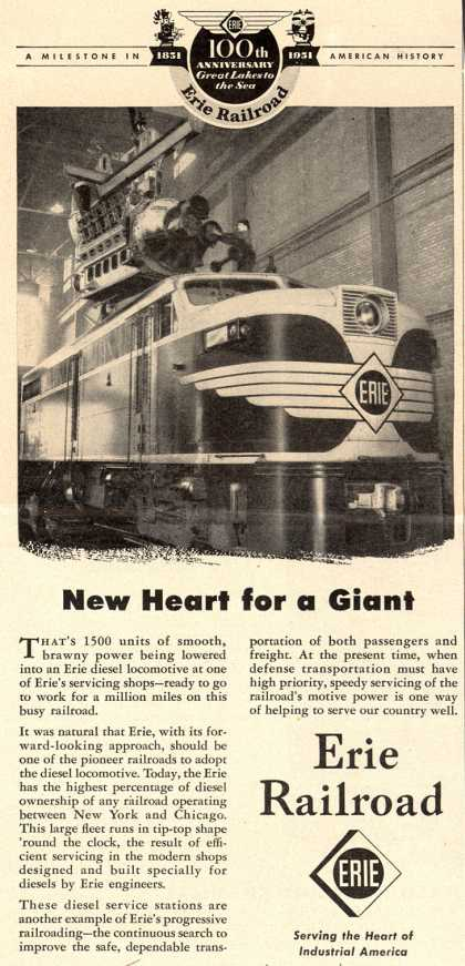 Erie Railroad's Service – New Heart for a Giant (1951)