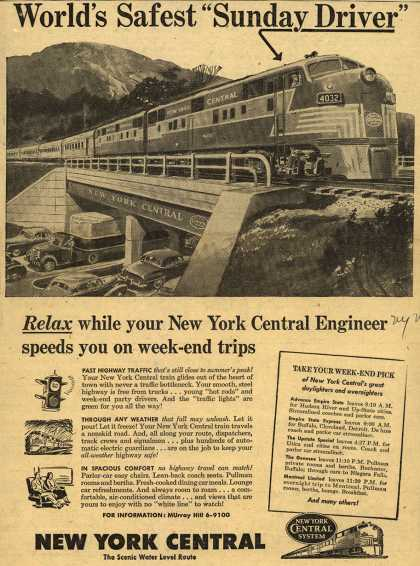 "New York Central System – World's Safest ""Sunday Driver"" (1950)"