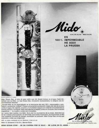 Mido Ocean Star Watch Spanish Language (1964)
