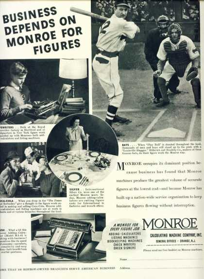 Monroe Business Machines Ad C Model Ma-6 (1938)