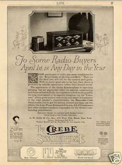 "Grebe Synchrophase Radio Ad ""To Some Radio... (1926)"