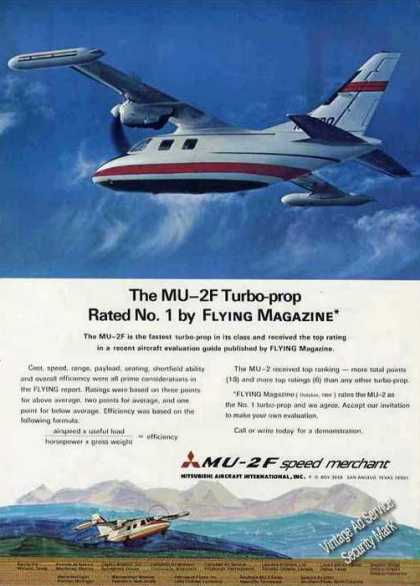 Mu-2f Turbo Prop Speed Merchant Plane (1970)
