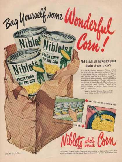 Niblets Whole Kernel Corn (1949)