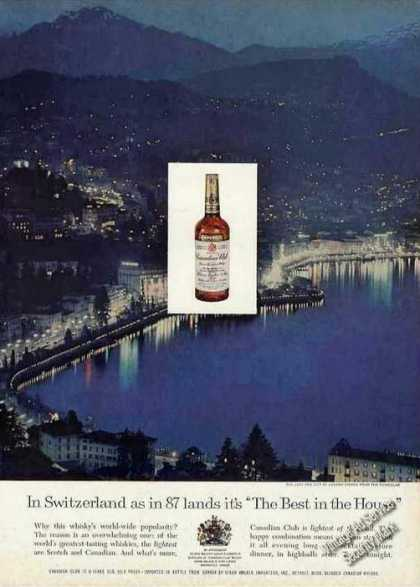 Lugano From Funicular Switzerland Canadian Club (1960)