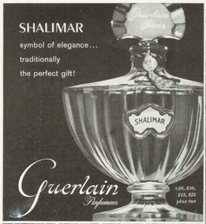 Guerlain Shalimar Perfume Bottle Photo (1961)