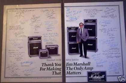Marshall Amps 25/50 Silver Jubilee Music (1987)