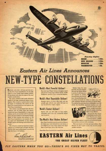 Eastern Air Lines – Eastern Air Lines Announces New-Type Constellations (1947)