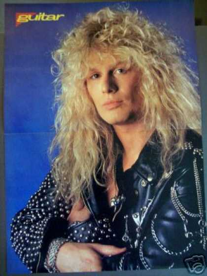 Blue Murder Guitarist John Sykes Photo Poster (1989)