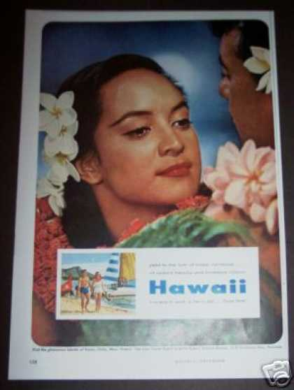 Original Hawaii Tropical Travel Photo (1956)