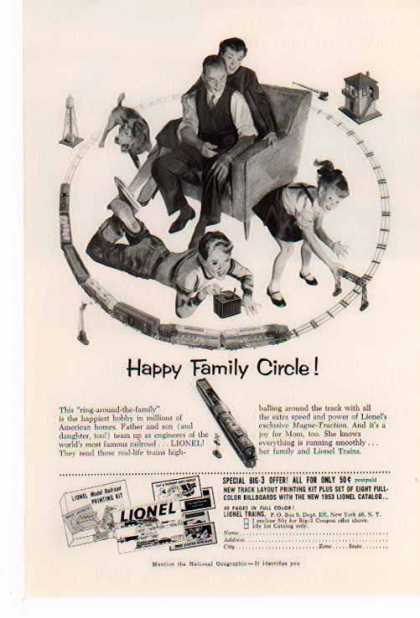 Lionel Train – Happy Family Circle (1953)