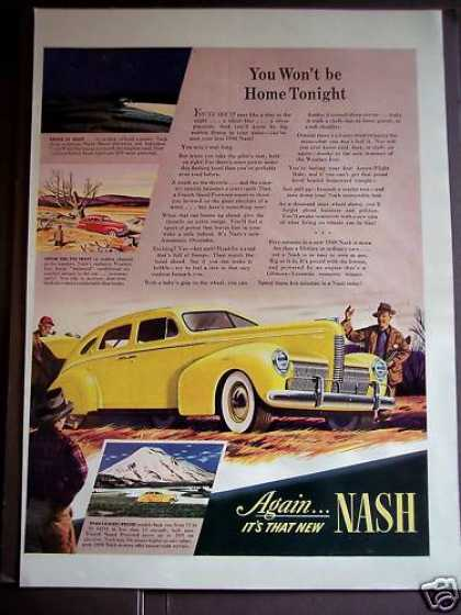 Nash Automobile for '40 Classic Yellow Car (1939)