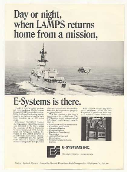 US Navy LAMPS Ship Helicopter E-Systems TACAN (1973)