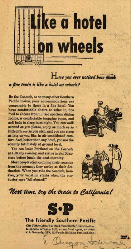 Southern Pacific's The Cascade – Like a hotel on wheels (1946)