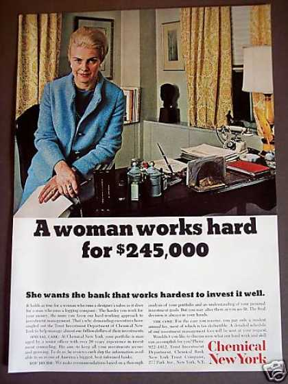 Woman Ceo Chemical New York Bank Investments (1967)